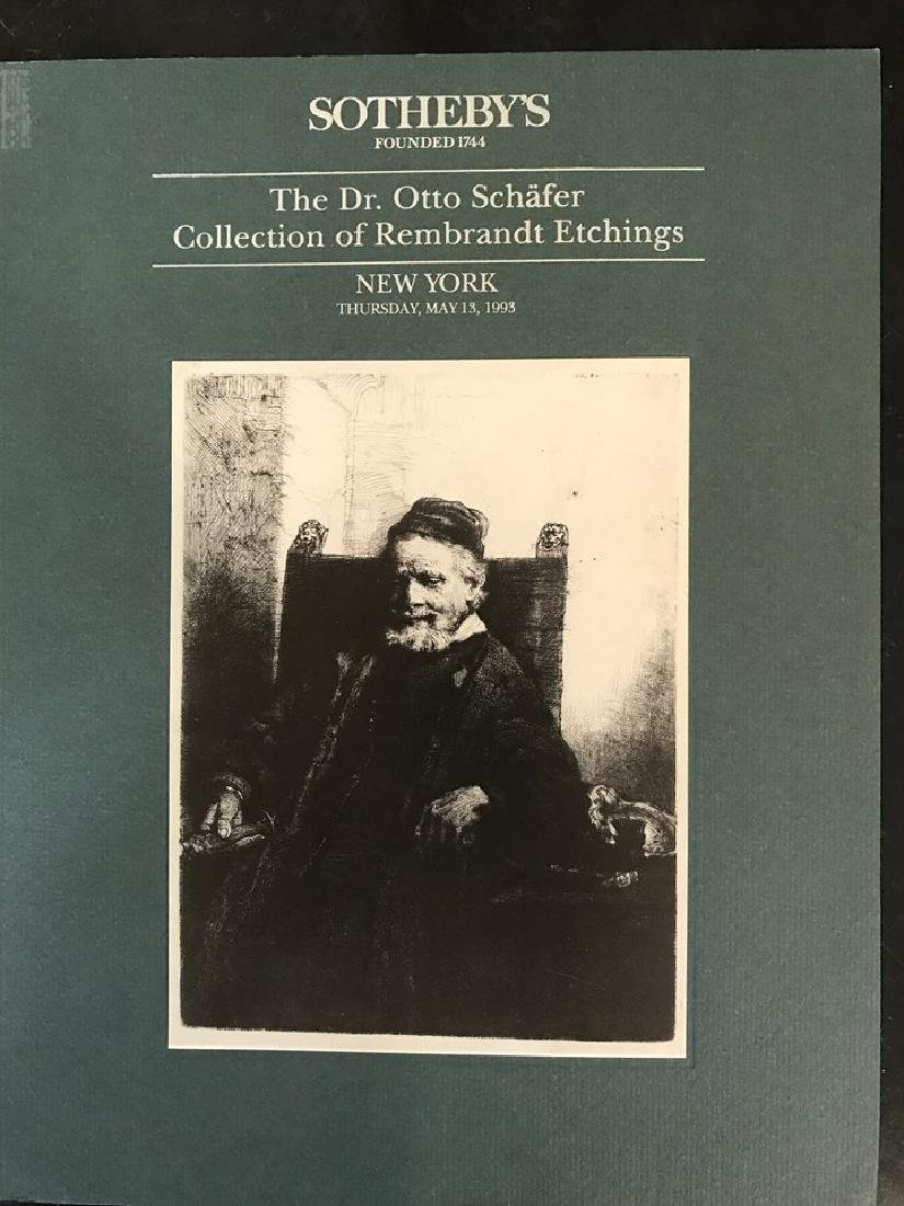 """Sotheby's """"The Dr. Otto Schafer Collection Of Rembrandt"""