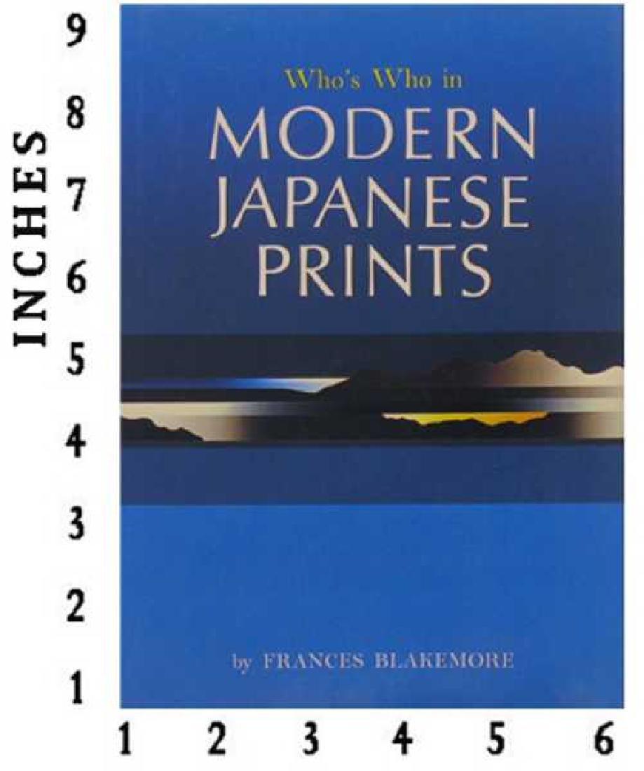 Museum Art Books Whos Who In Modern Japanese Printart