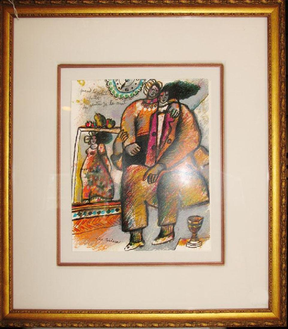 Theo Tobiasse Framed Signed Lithograph Huge Sale