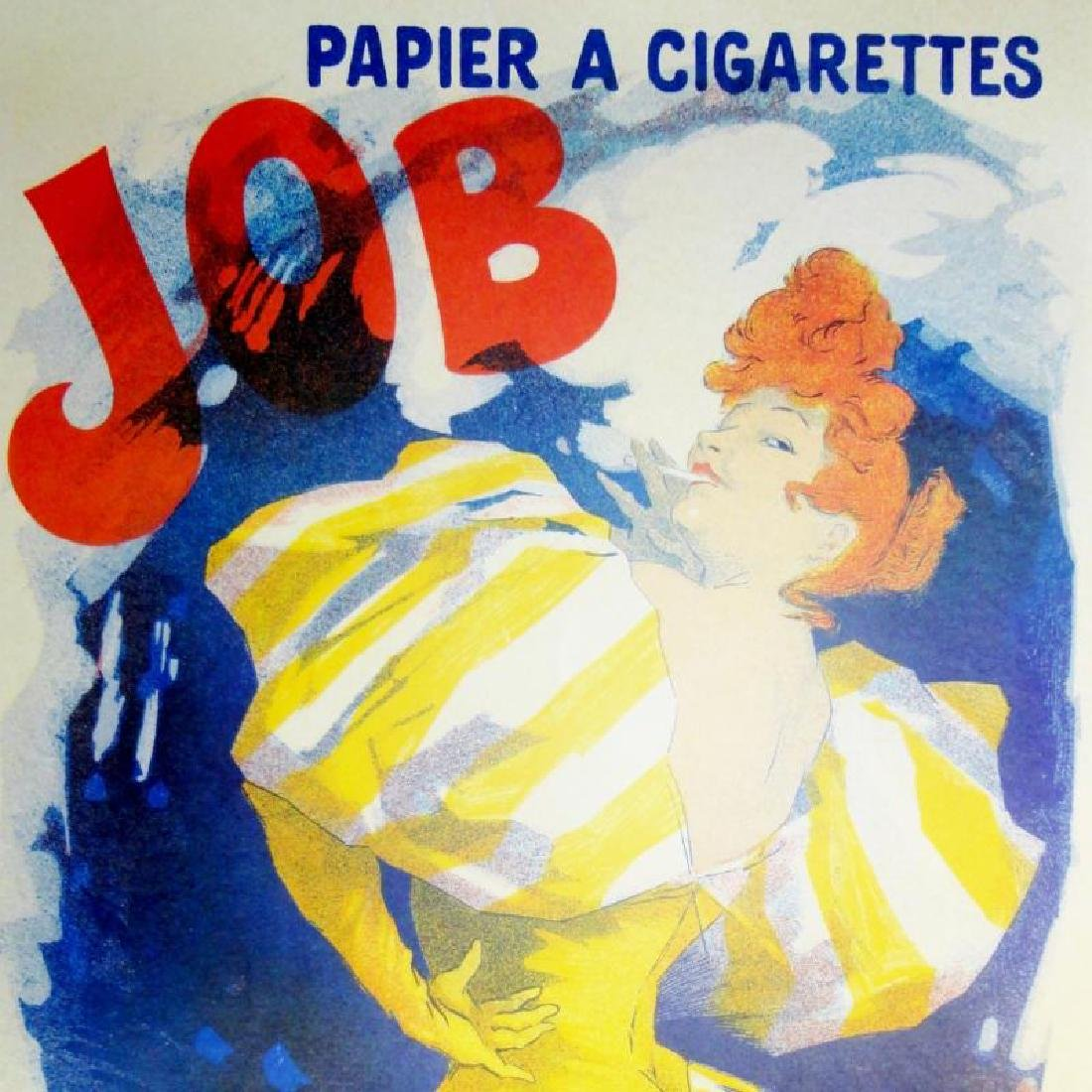 Job Cigarettes Antique Poster Rare Reproduction Huge