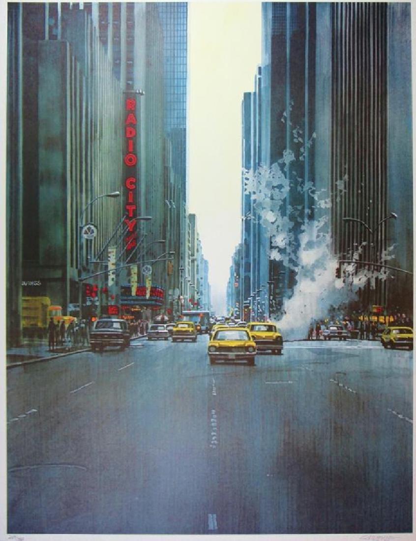 Radio City Large Limited Edition Signed New York Art