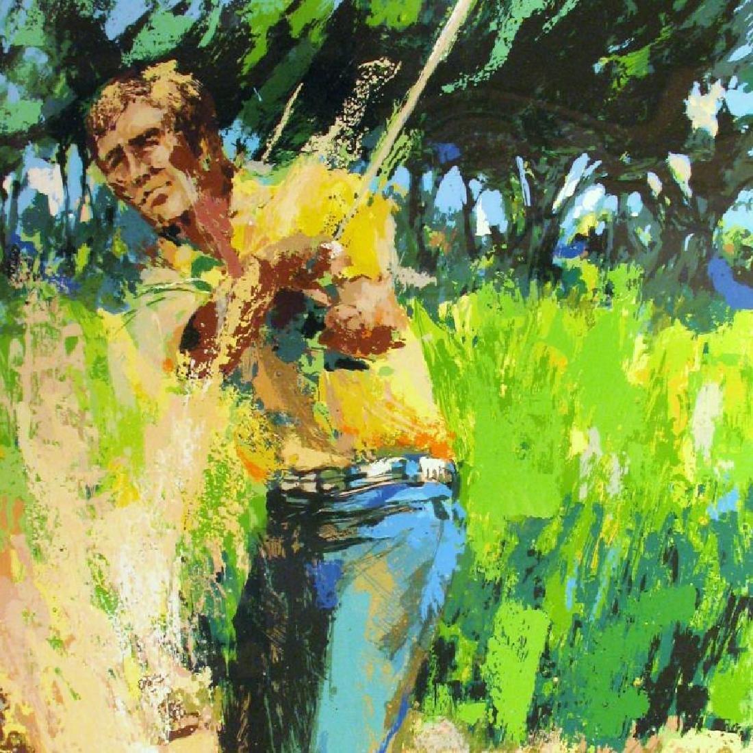 Neiman-Style Sand Trap Golf Impressionism Ltd Ed Art - 2