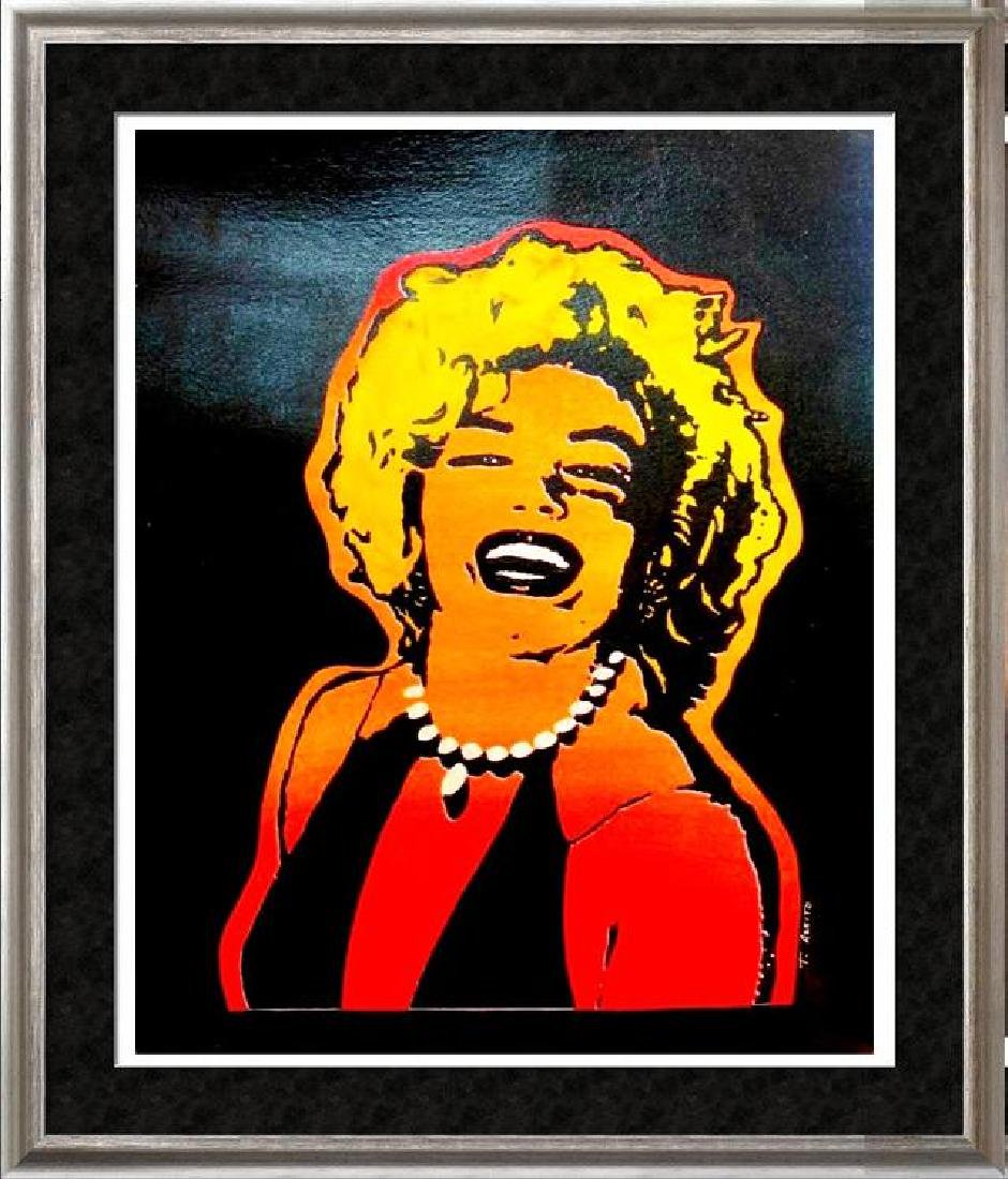 DRAMATIC COLORFUL POP STYLE MARILYN MONROE PAINTING