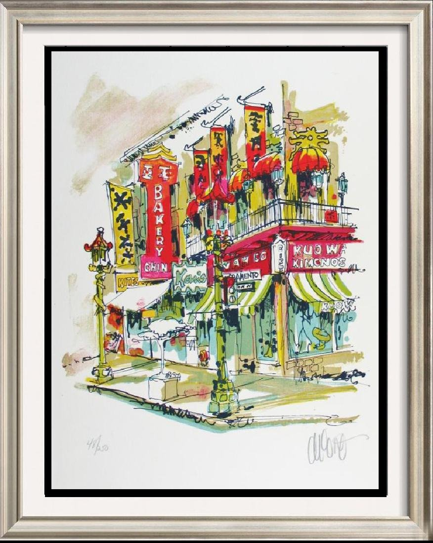 China Town Litho Colorful Ltd Ed Signed Art
