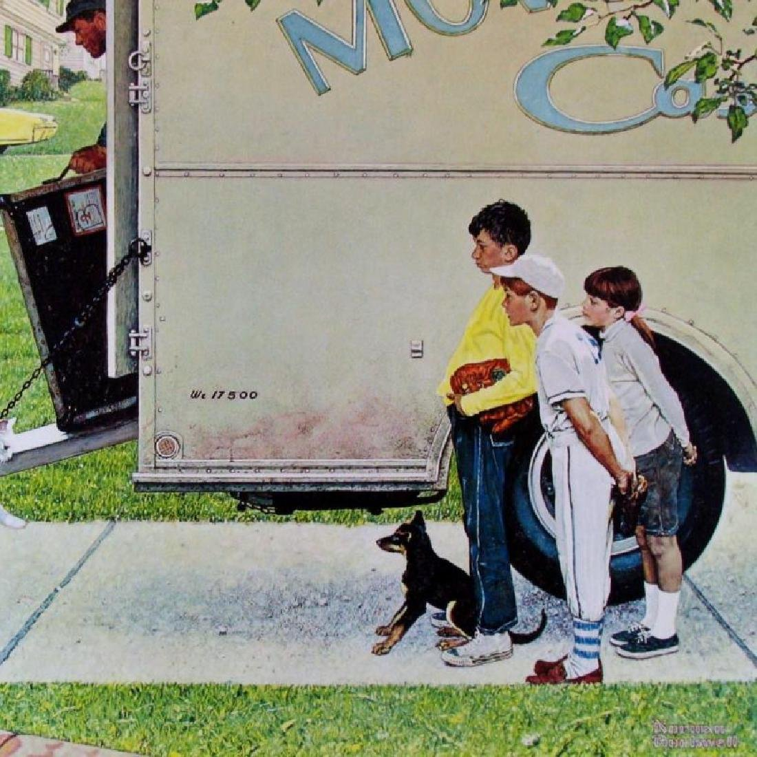 Norman Rockwell Moving Day Collograph Rare Collectible - 3
