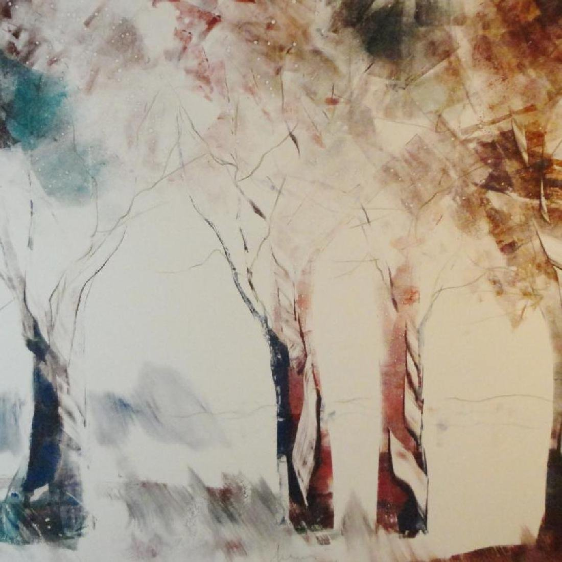 Acrylic Painting on Paper Fantastic Abstract Trees - 2