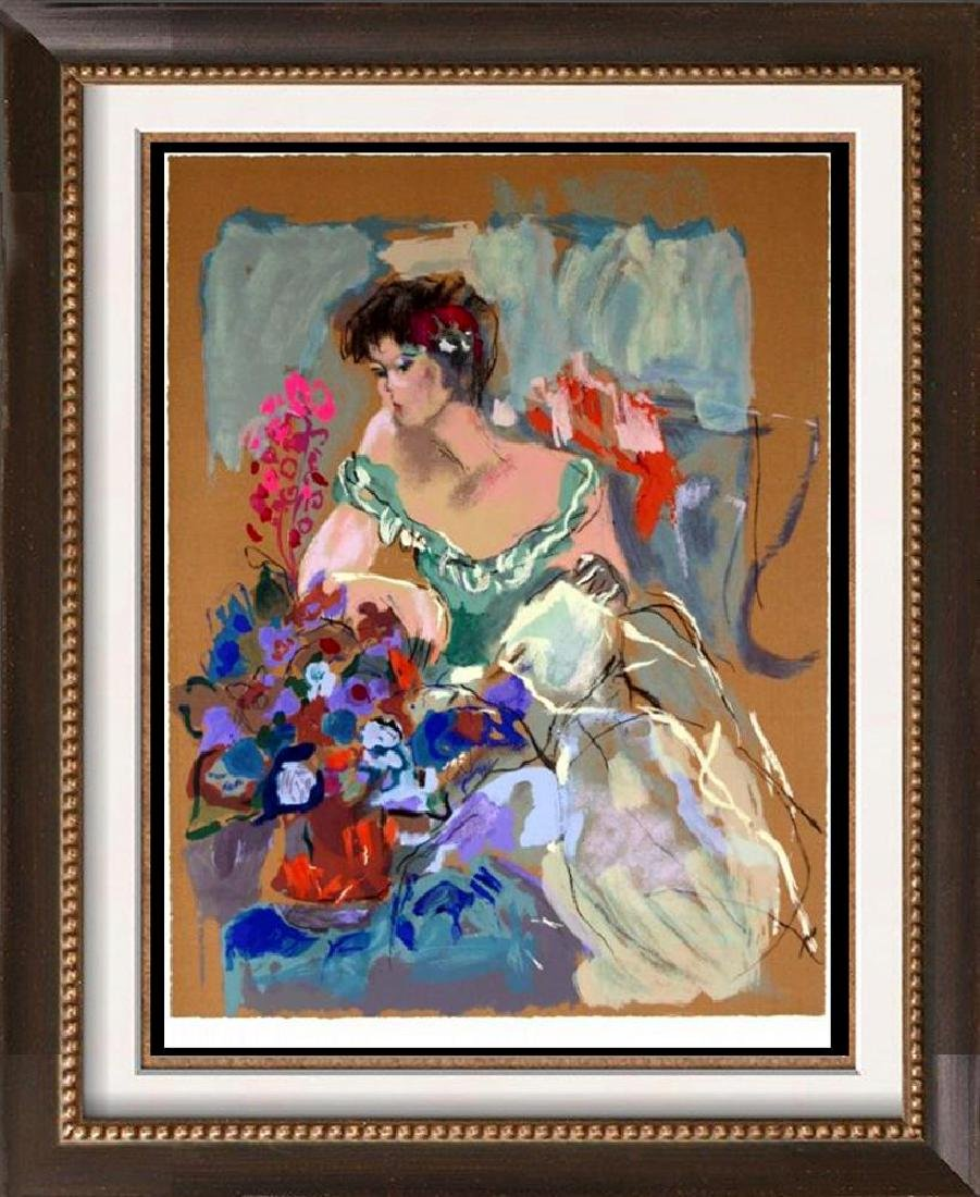 Colorful Modern Female with Flowers Abstract