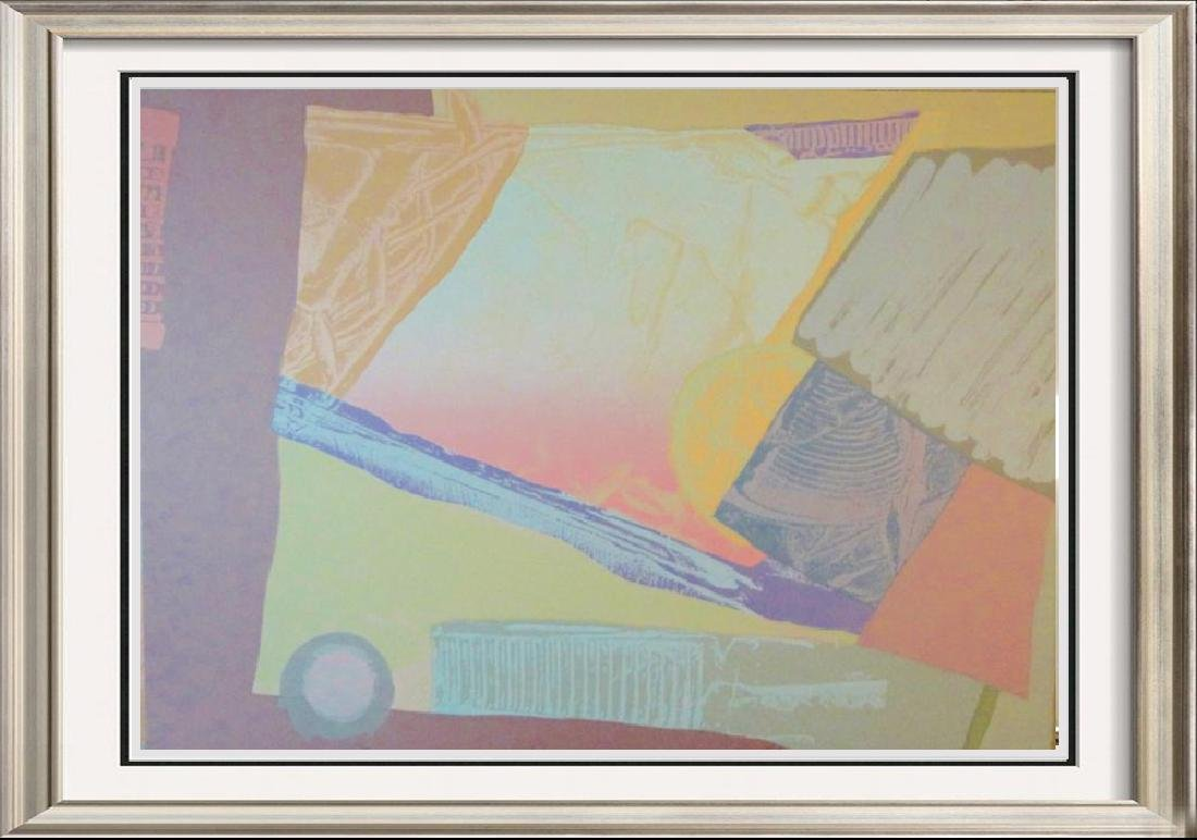 Pastel Abstract Hand Signed Dealer Serigraph Sale