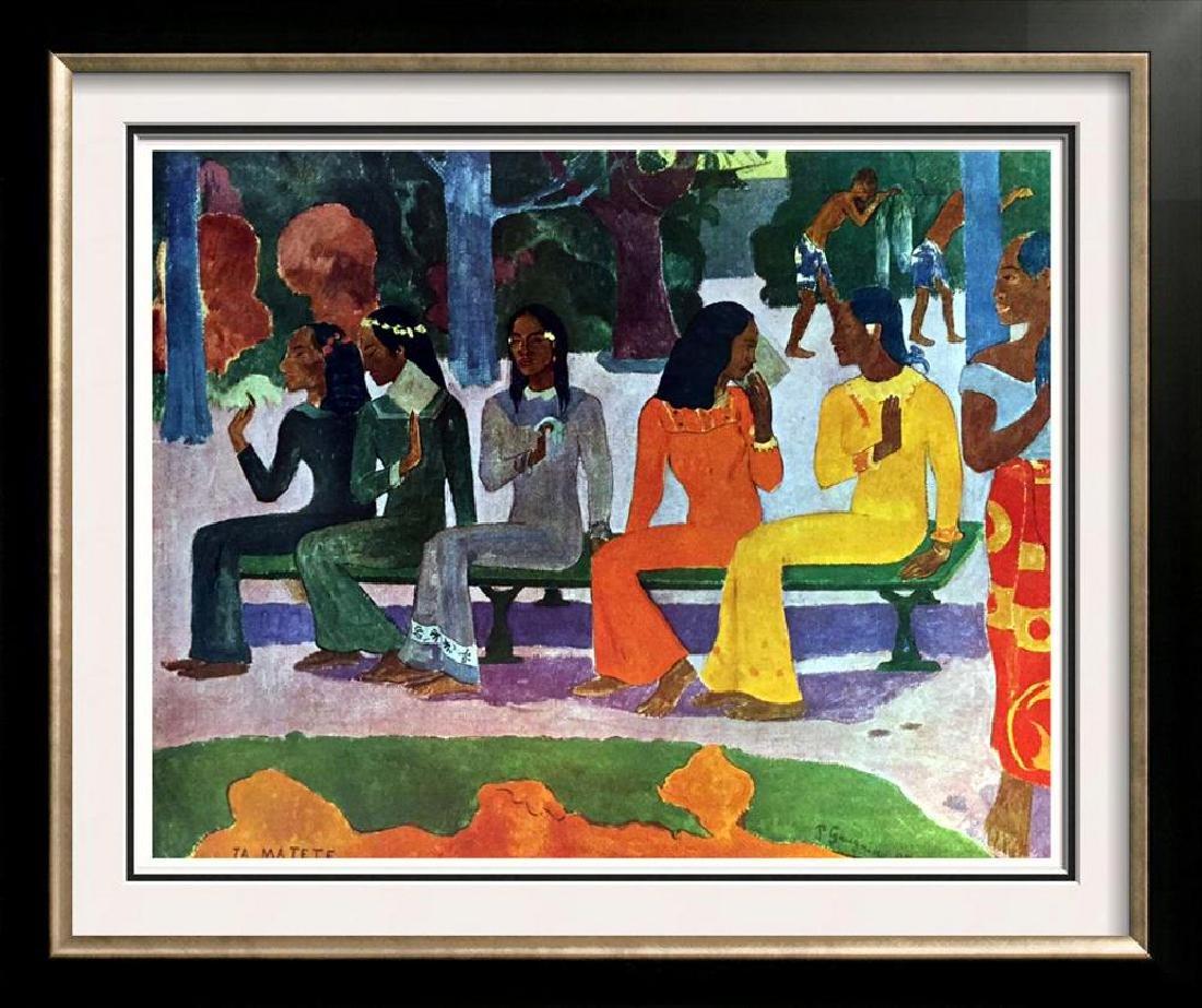 Gauguin, Paul Ta Matete c.1892 Fine Art Print Signed in