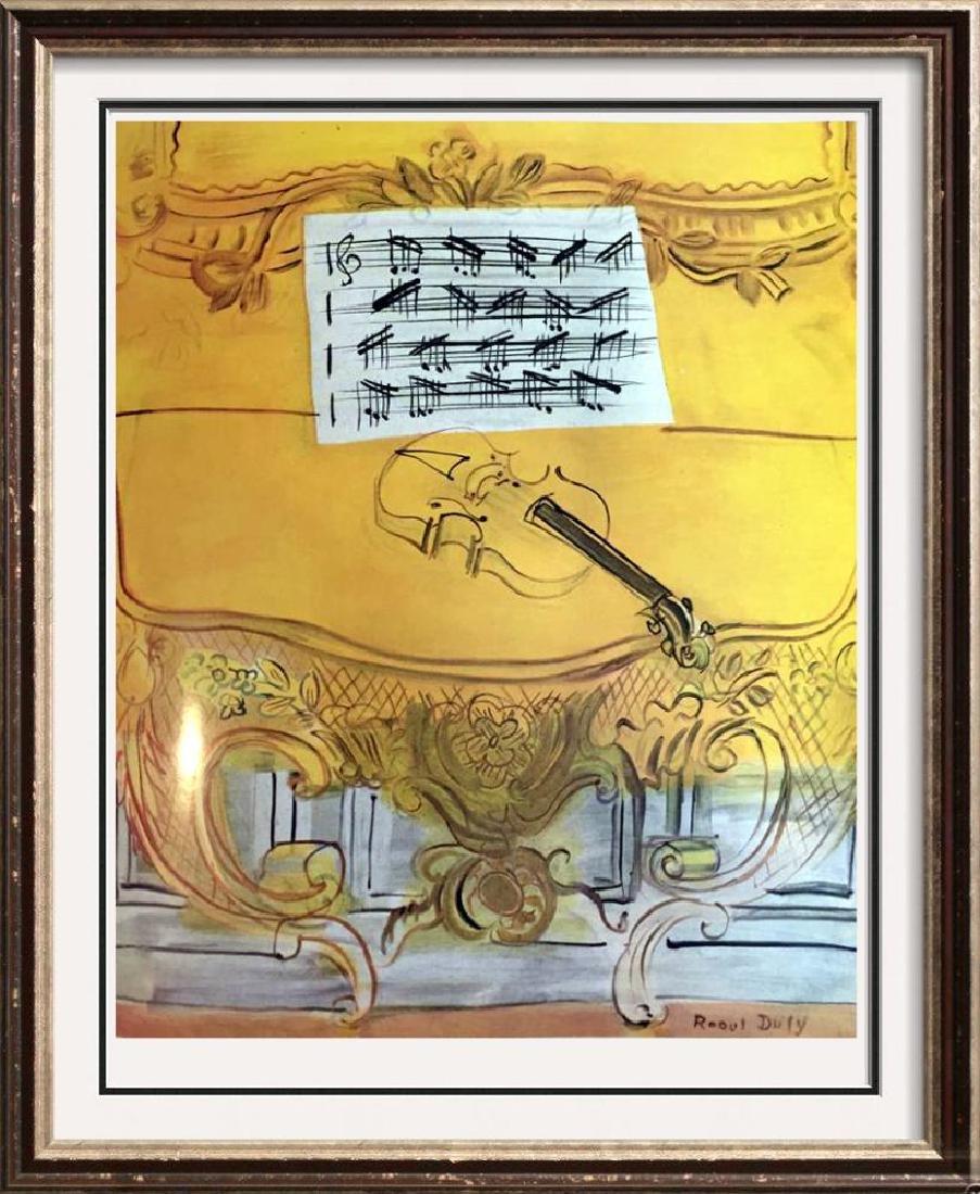 Raoul Dufy Yellow Console with Violin c.1949 Fine Art