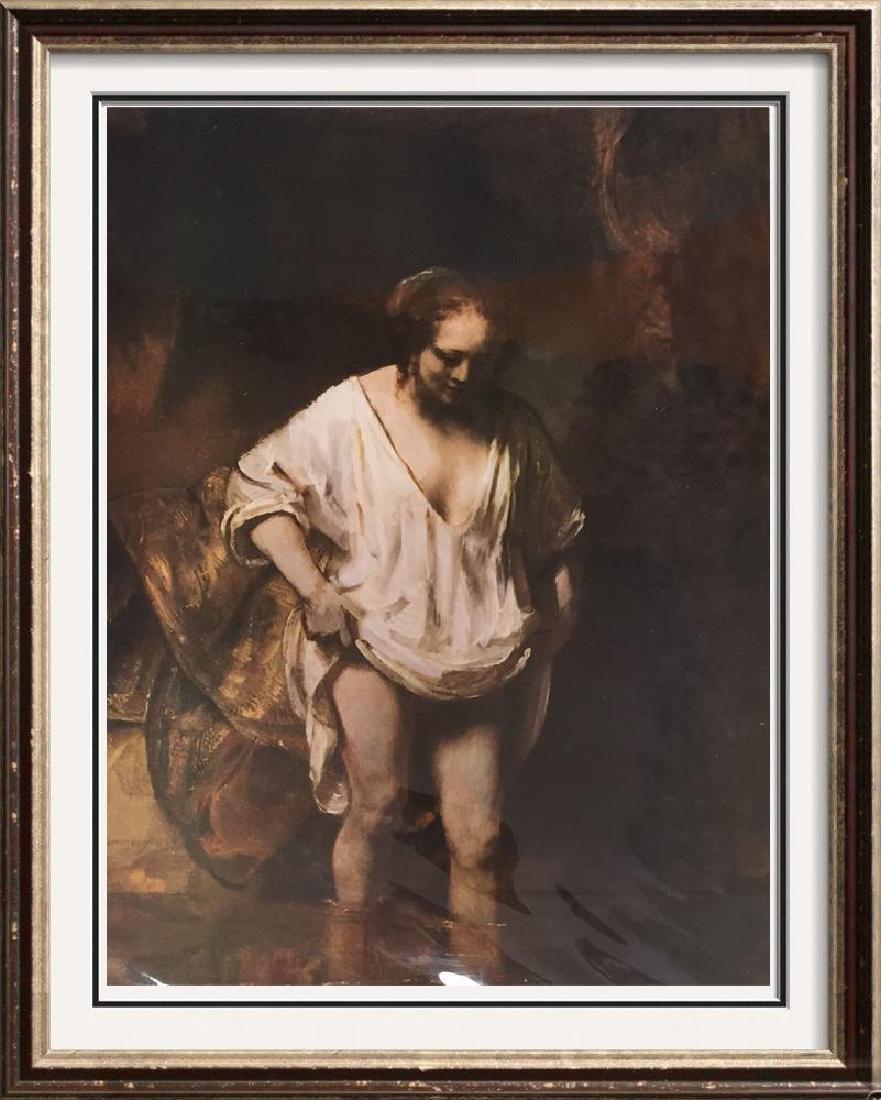 Rembrandt A Woman Bathing c.1654 Fine Art Print Signed