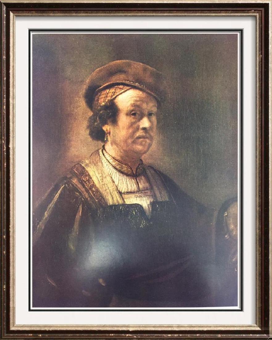 Rembrandt Self-Portrait c.1650 Fine Art Print Signed in