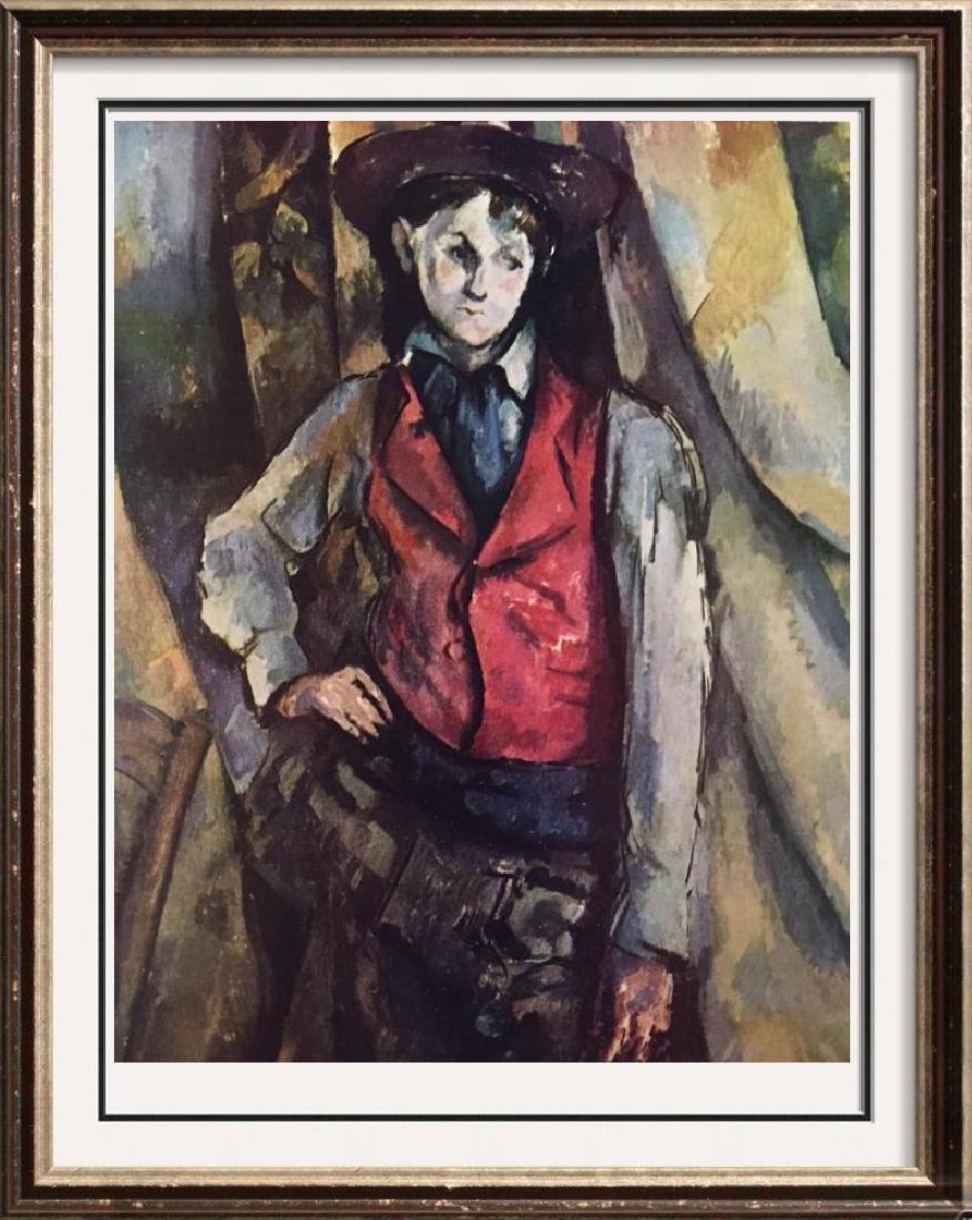 Paul Cezanne Boy with Red Vest c.1890-95 Fine Art Print