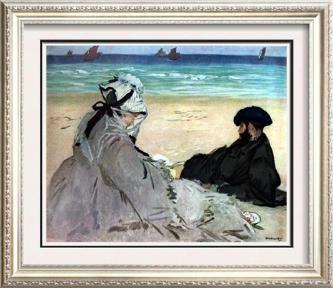 Edouard Manet On the Beach c.1873 Fine Art Print Signed