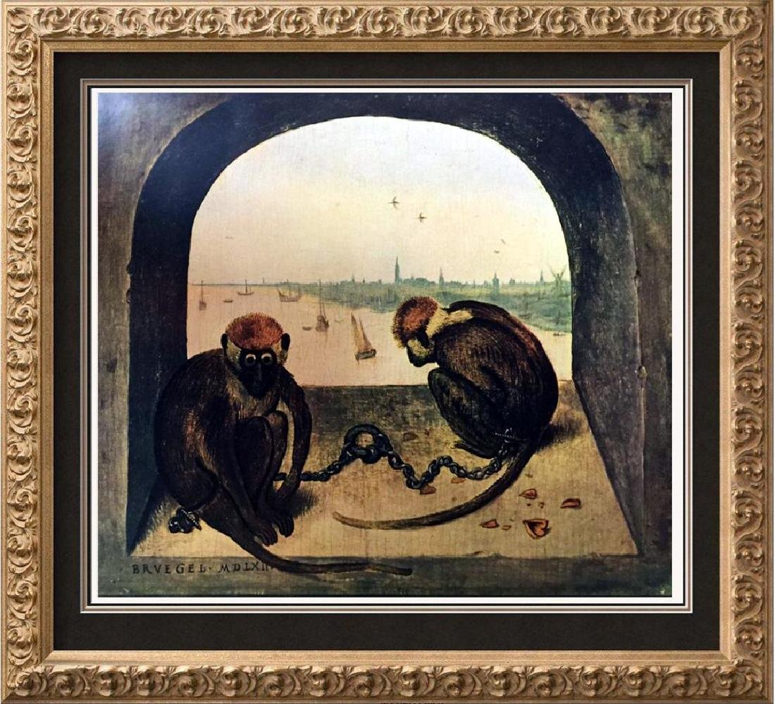 Pieter Bruegel Two Monkeys c.1562 Fine Art Print Signed