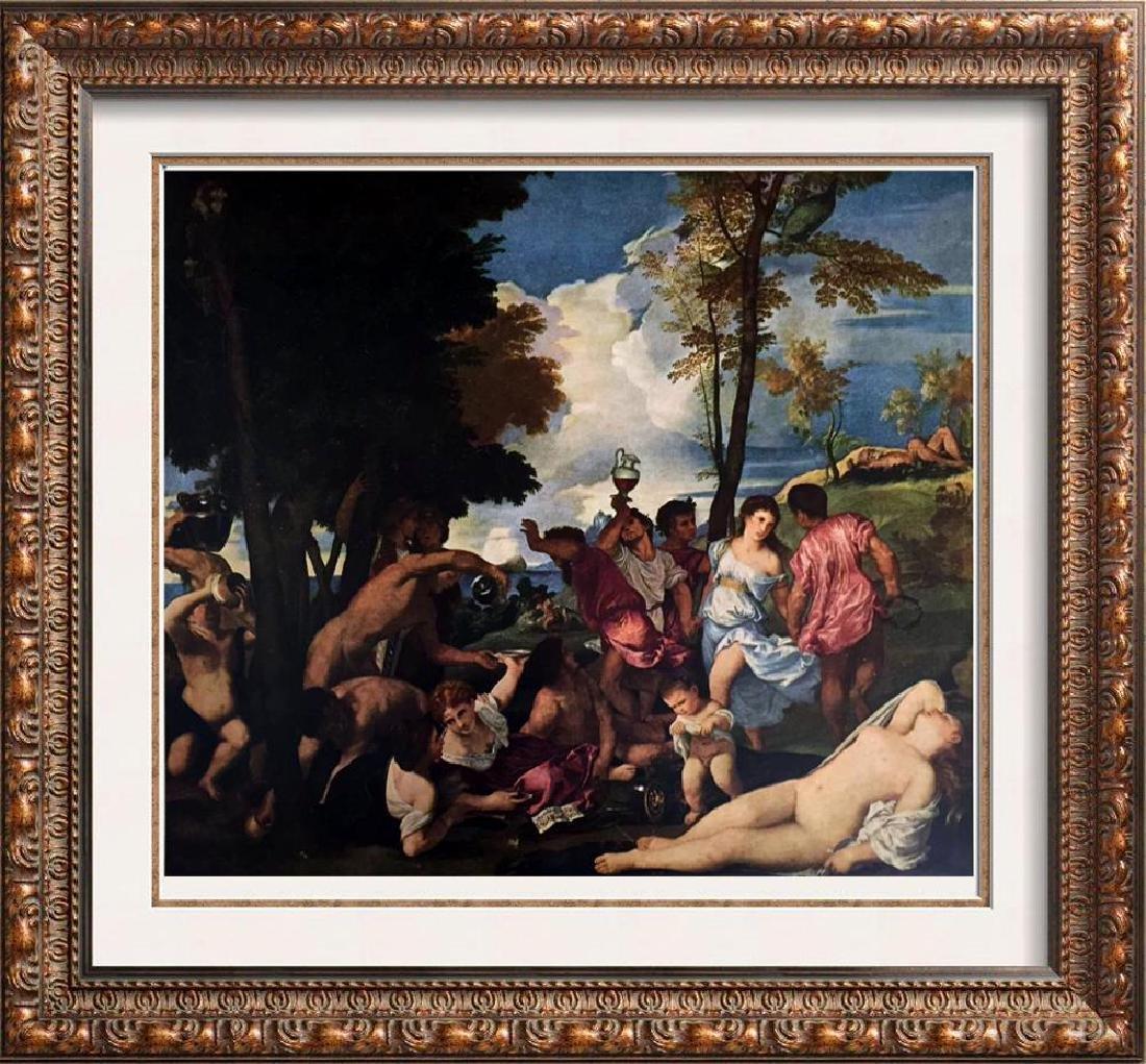 Tiziano Vecellio Titian Bacchanal c.1518 Fine Art Print