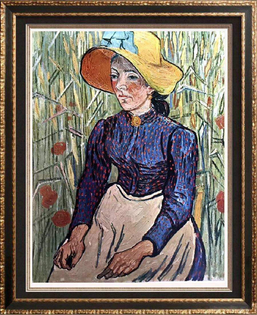 Vincent Van Gogh Peasant Girl c.1890 Fine Art Print