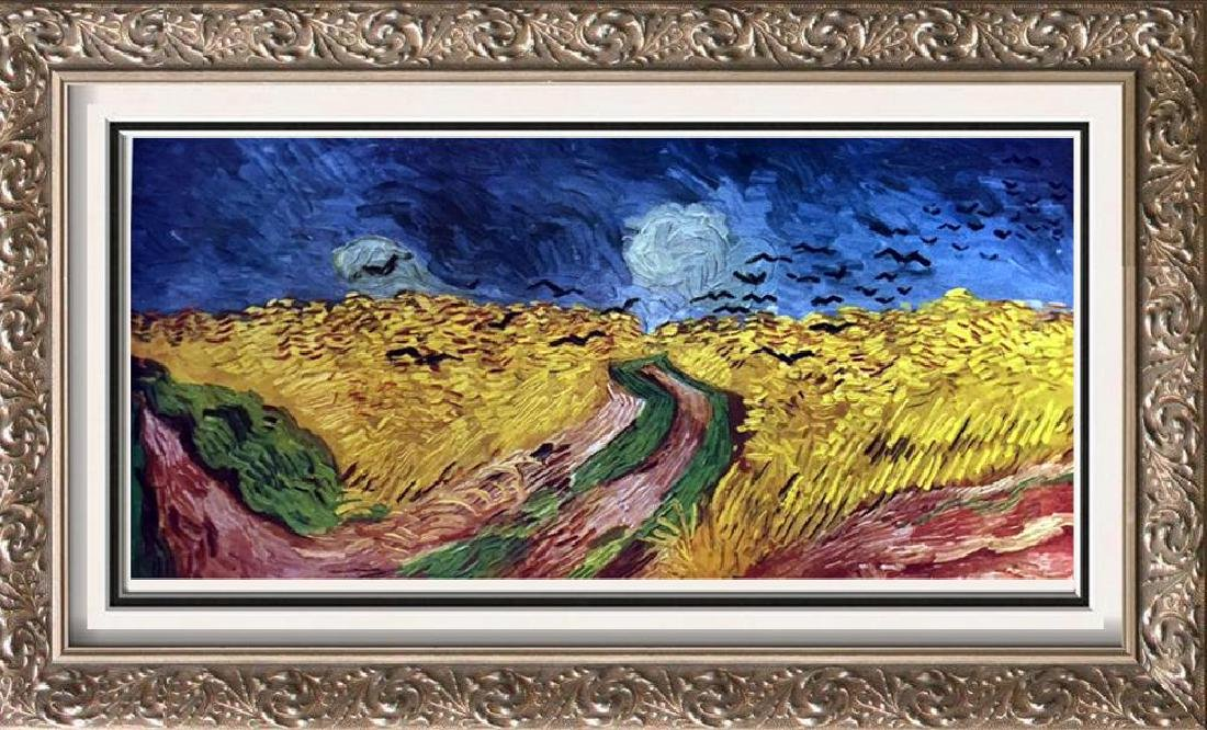 Vincent Van Gogh Crows Over the Wheat Field c.1890 Fine