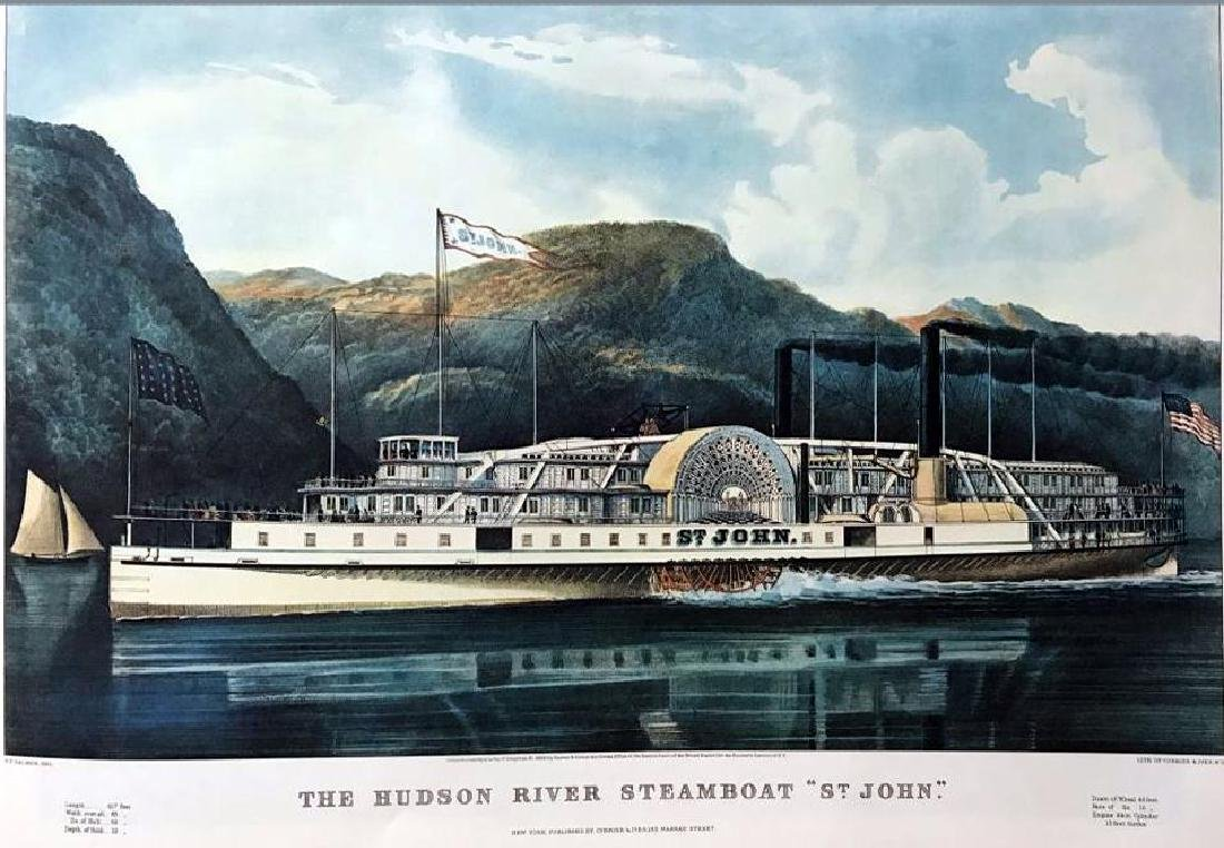 Roy King c.1987 The Hudson River Steamboat Saint John - 2