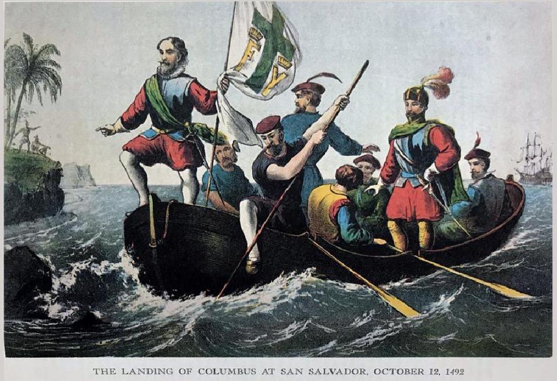 The Landing Of Columbus At San Salvador Color - 2