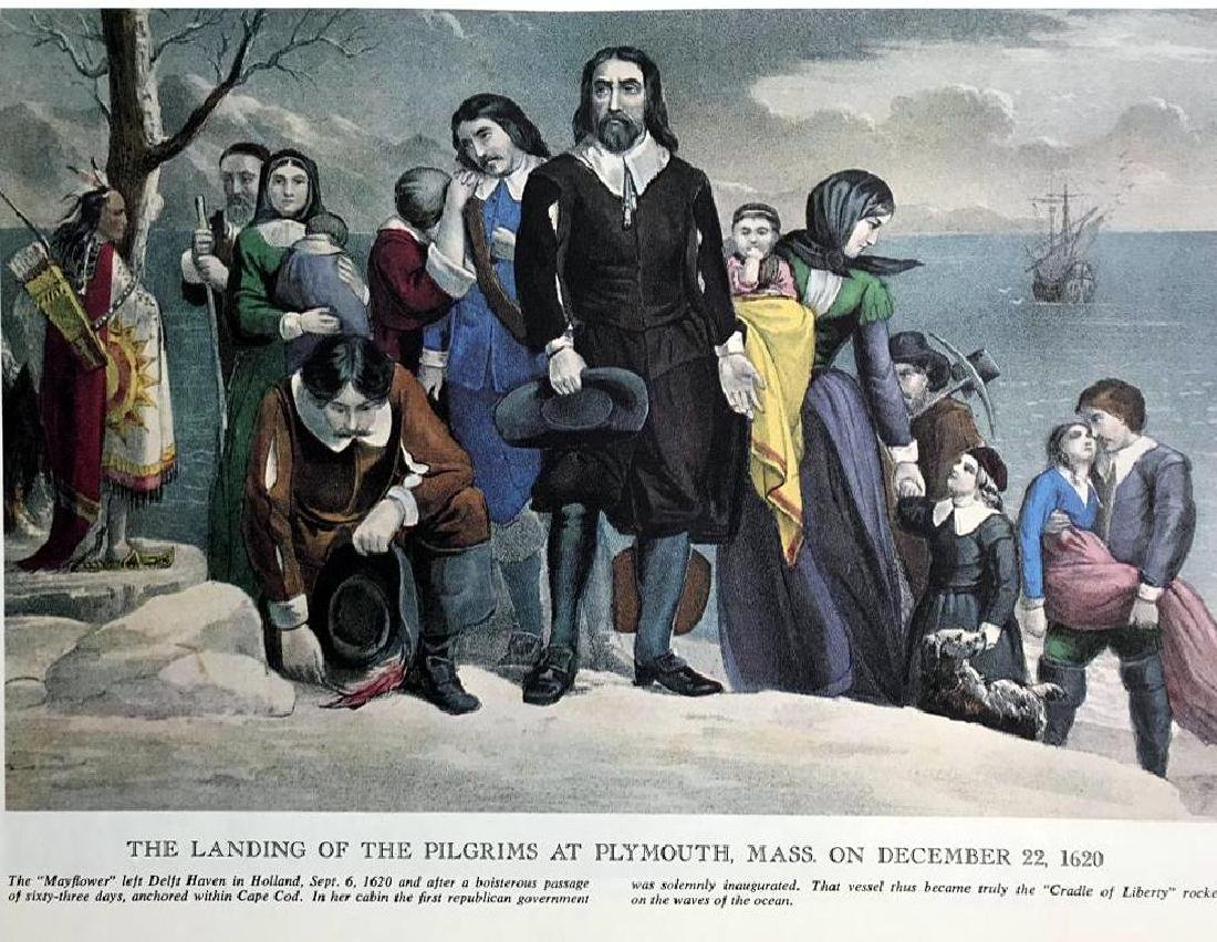 The Landing Of The Pilgrims At Plymouth Color - 2