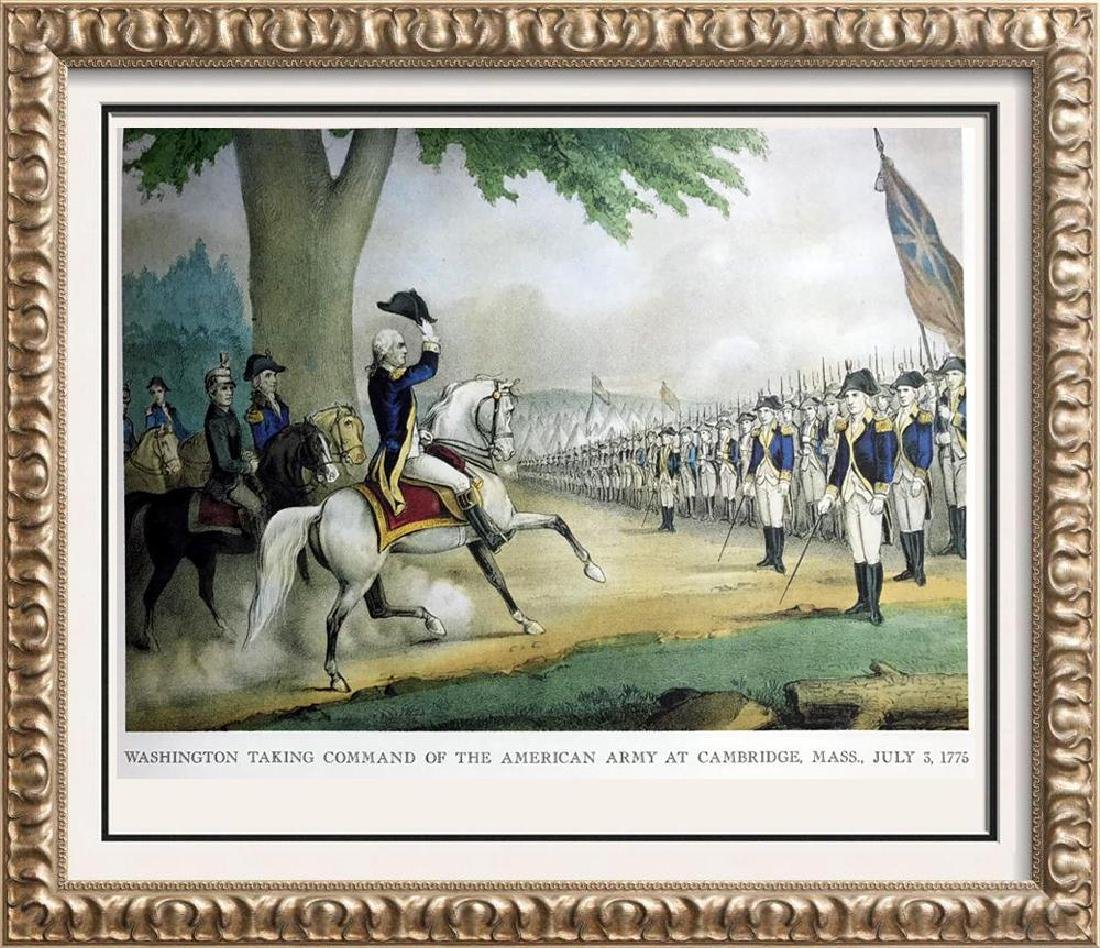 Washington Taking Command Of The American Army At