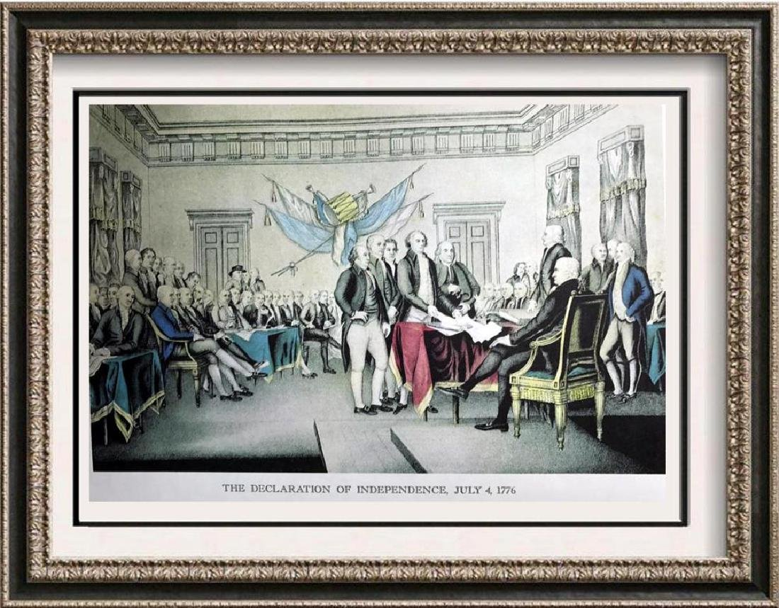 The Declaration Of Independence Color Lithographic Fine