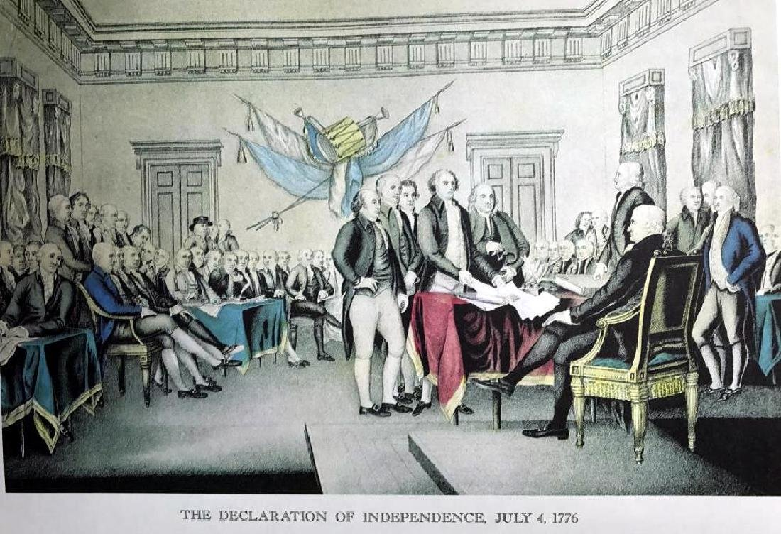 The Declaration Of Independence Color Lithographic Fine - 2