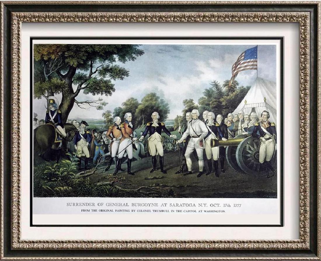 Surrender Of General Burgoyne At Saratoga Color