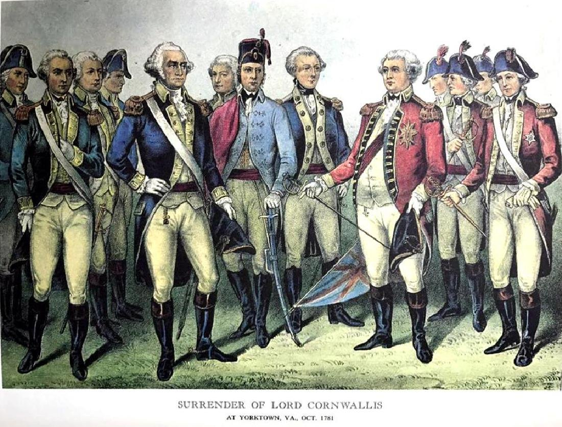Surrender Of Lord Cornwallis Color Lithographic Fine - 2