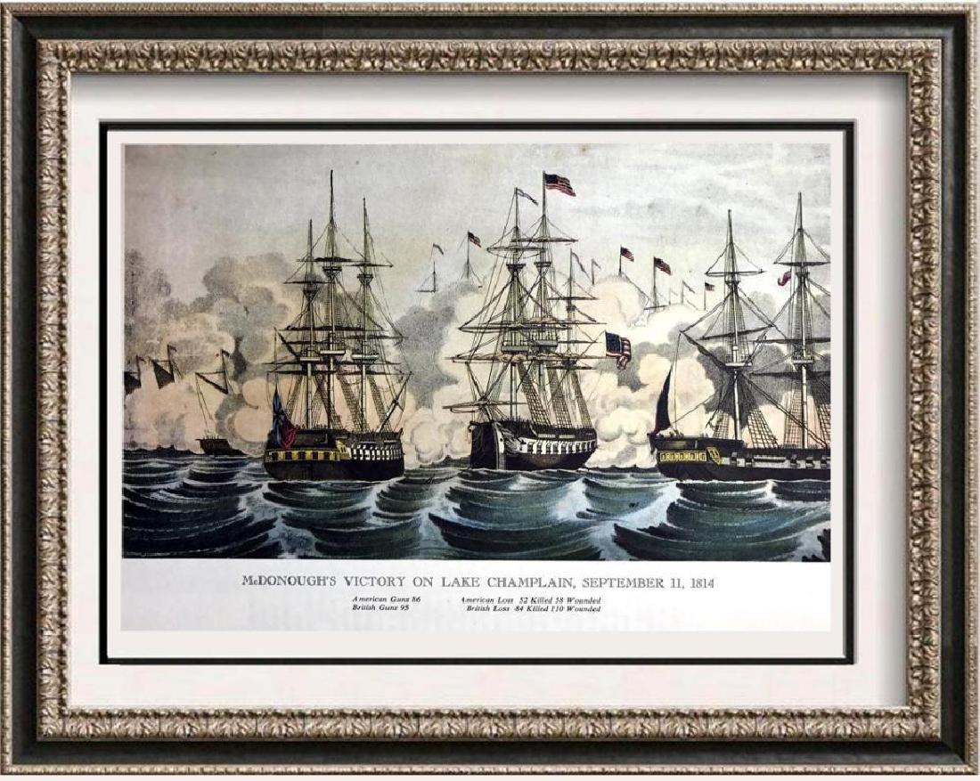 Macdonough's Victory On Lake Champlain Color