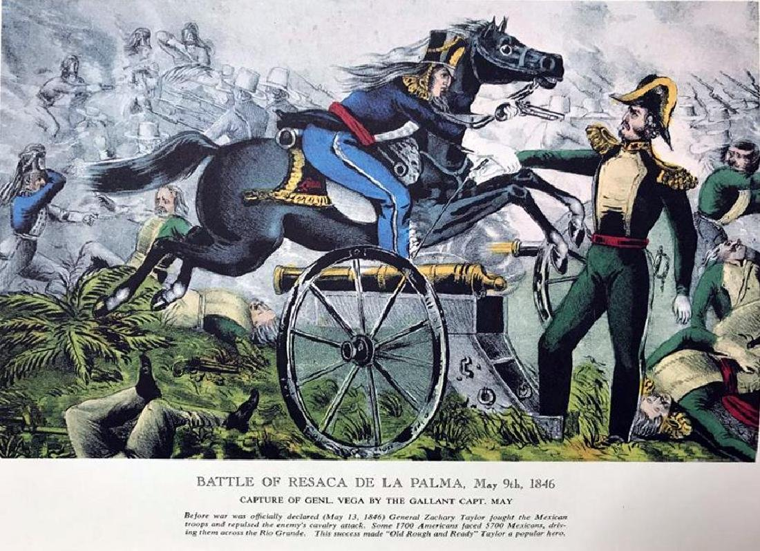 Battle Of Resaca  De La Parma Color Lithographic Fine - 2