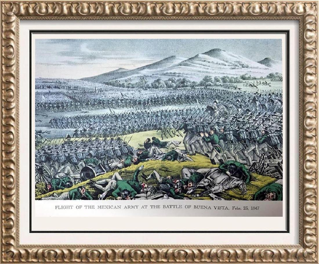 Flight Of The Mexican Army At The Battle Of Buena Vista
