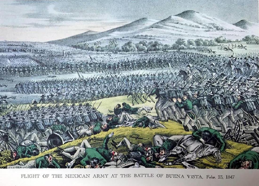 Flight Of The Mexican Army At The Battle Of Buena Vista - 2