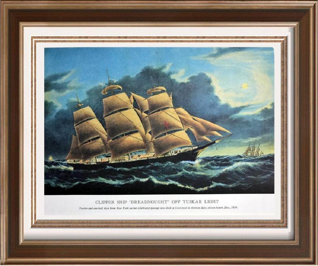 Clipper Ship Dreadnought Off Tuskar Light Color