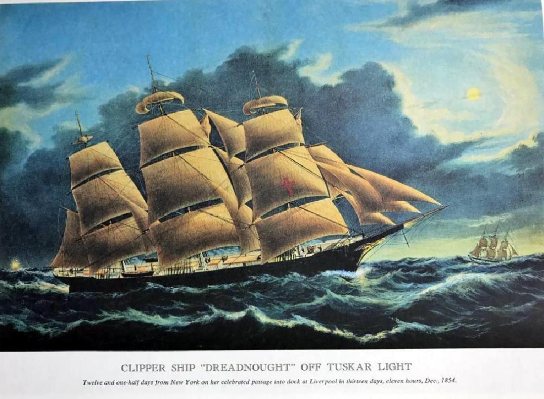 Clipper Ship Dreadnought Off Tuskar Light Color - 2