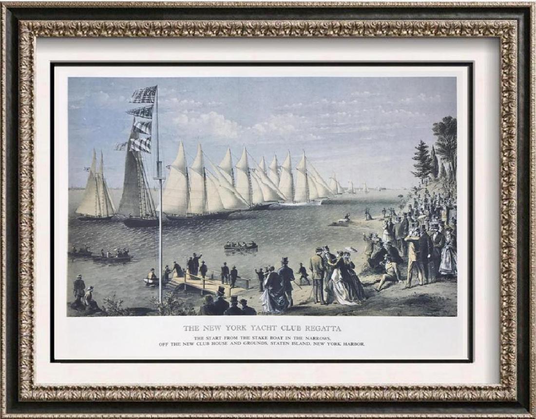 The New York Yacht Club Regatta Color Lithographic Fine