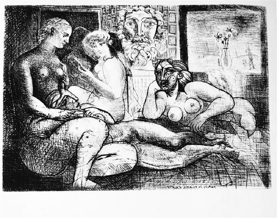 Pablo Picasso 'After'  Four Nude Models and a