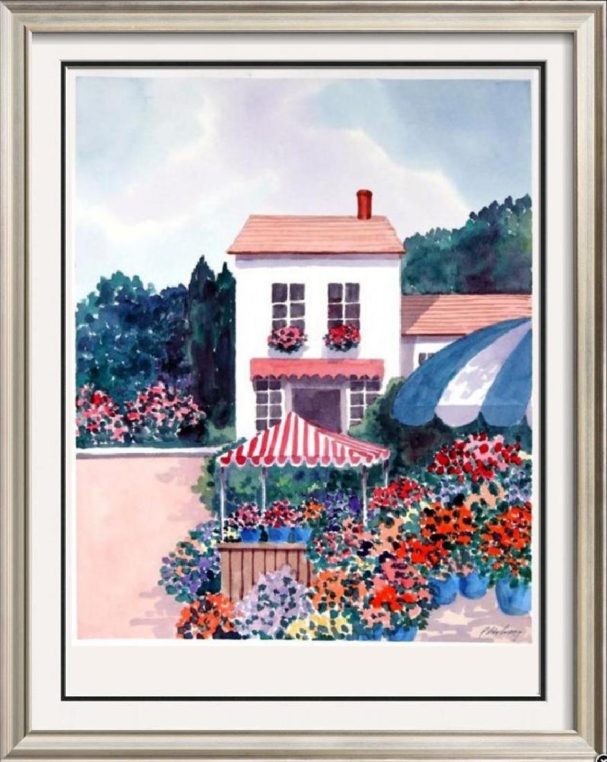 Island scene colorful Signed Original Watercolor