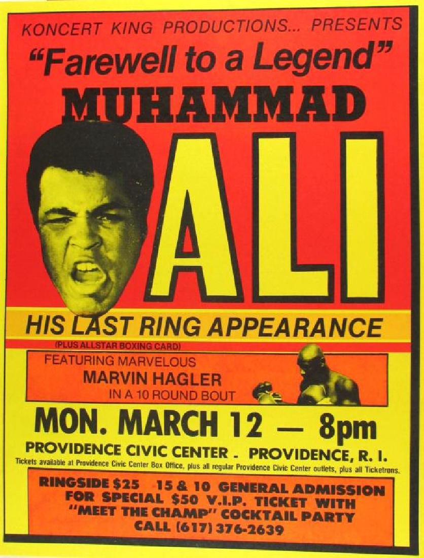 MUHAMMAD ALI RARE VINTAGE POSTER COLLECTIBLE