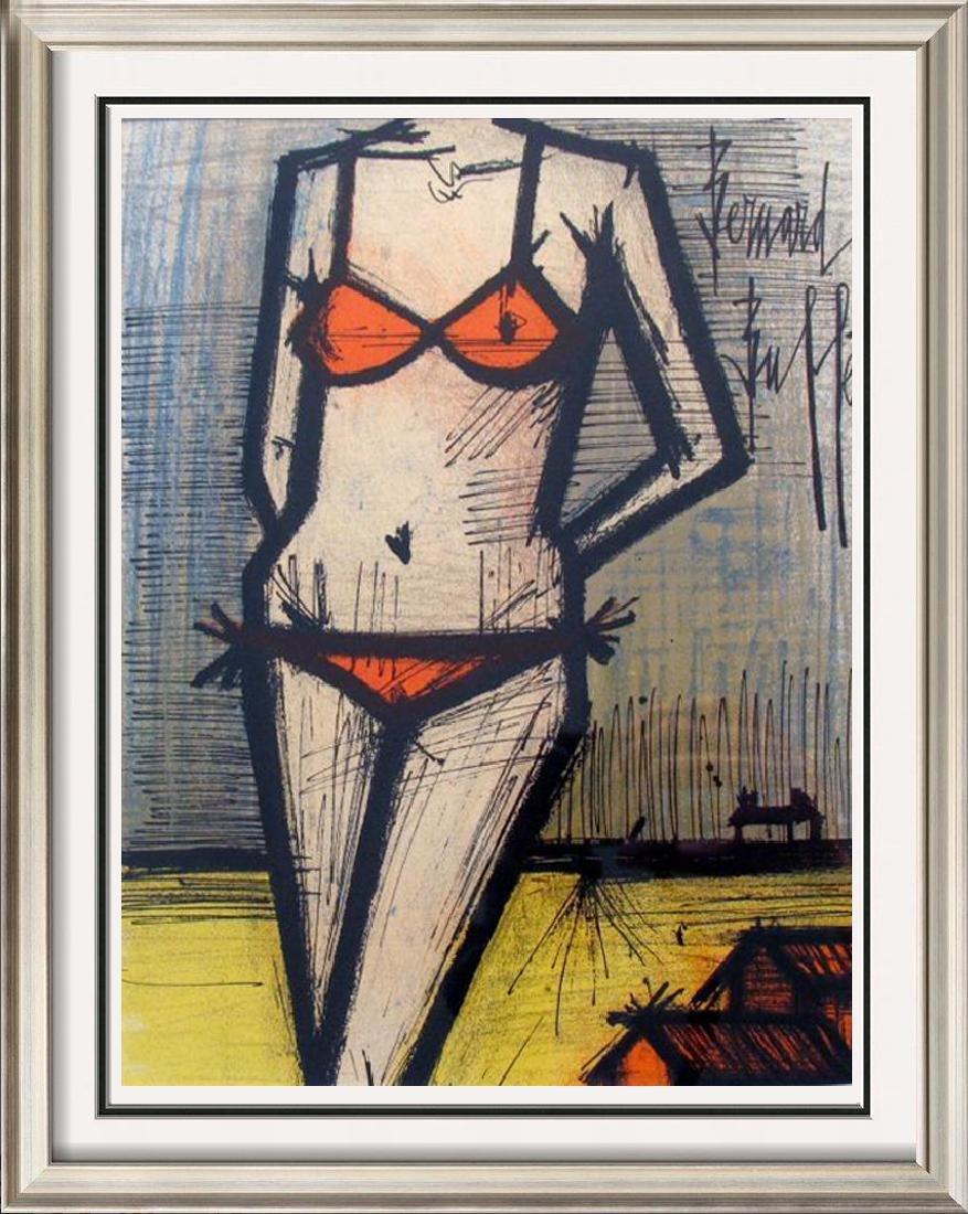 Buffet Bikini Original Colored Lithograph Signed Sale