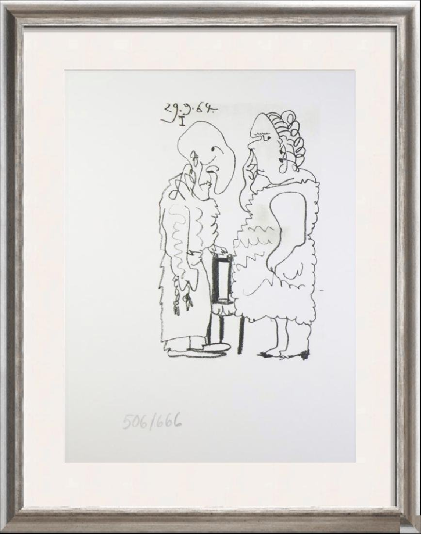 PICASSO COUPLE RARE PENCIL NUMBERED LIMITED EDITION