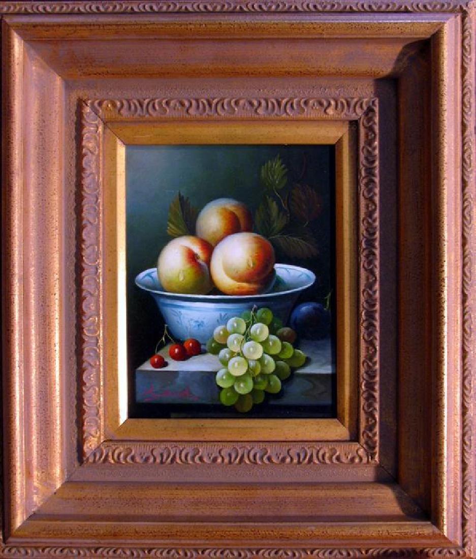 Museum Framed Still Life Fruit Bowl Huge Art Sale
