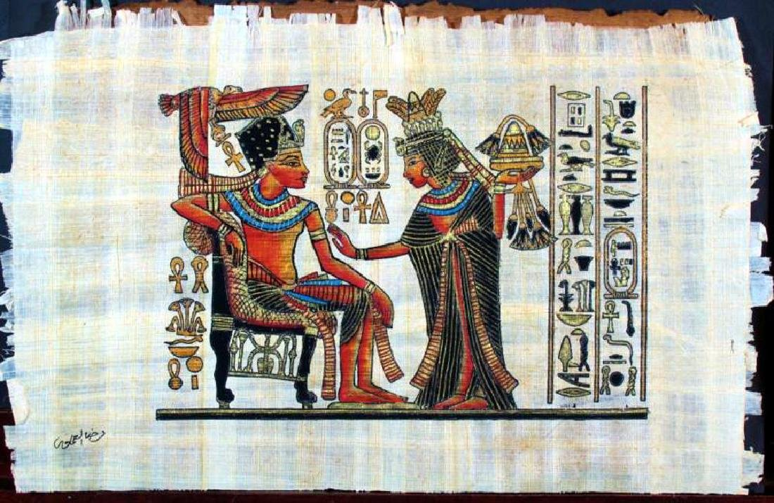 Original Egyptian Art Papyrus Painting Liquidation Sale