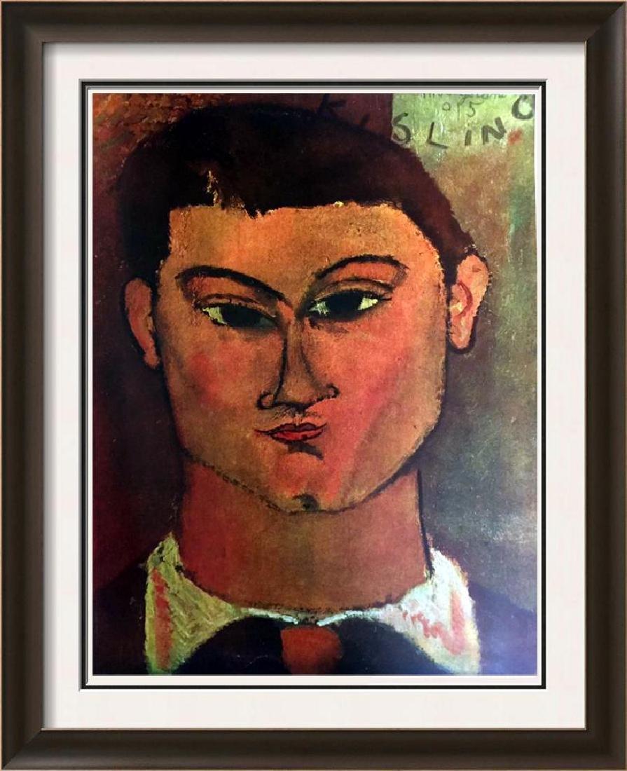 Amedeo Modigliani Head of Kisling c.1915 Fine Art Print