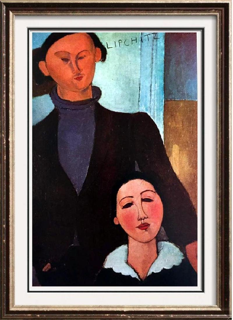 Amedeo Modigliani Jacques Lipchitz and His Wife