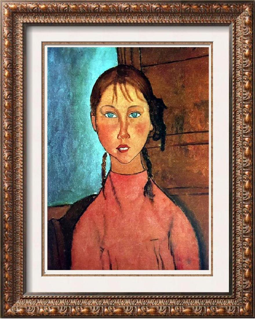 Amedeo Modigliani Girl with Braids c.1917 Fine Art