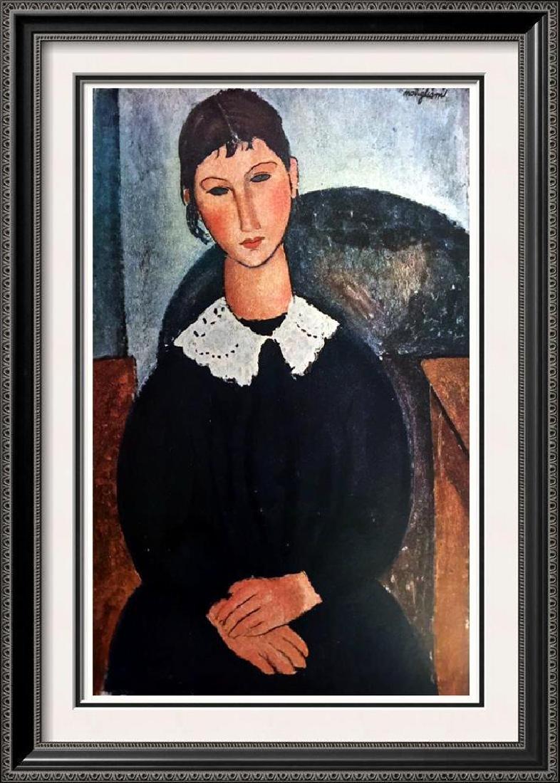 Amedeo Modigliani Peintures Portrait A La Collerette
