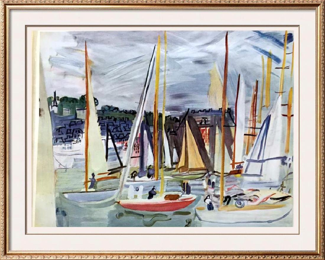 Raoul Dufy Harbor at Deaville c.1935 Fine Art Print
