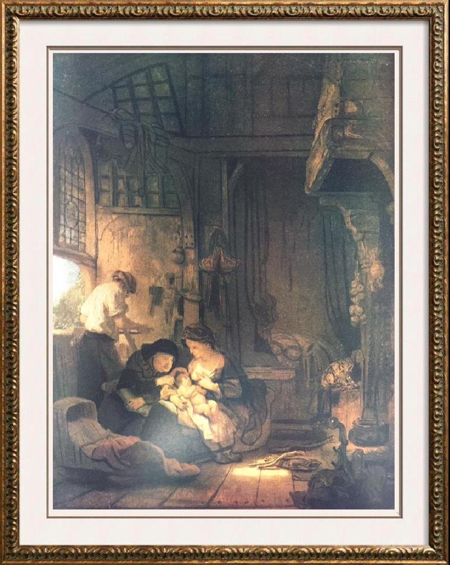 Rembrandt The Holy Family c.1640 Fine Art Print Signed